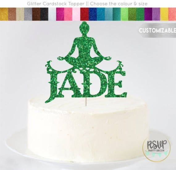 Custom Yoga Cake Topper Yogi Cake Topper Personalized Yoga Party Decorations Zen Birthday Party Birthday Cakes For Women Dessert Decoration Cake Toppers