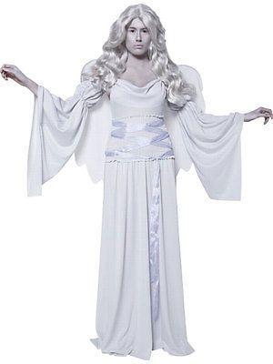 New womens halloween grey cemetery angel #ladies #fancy #dress party - angel halloween costume ideas