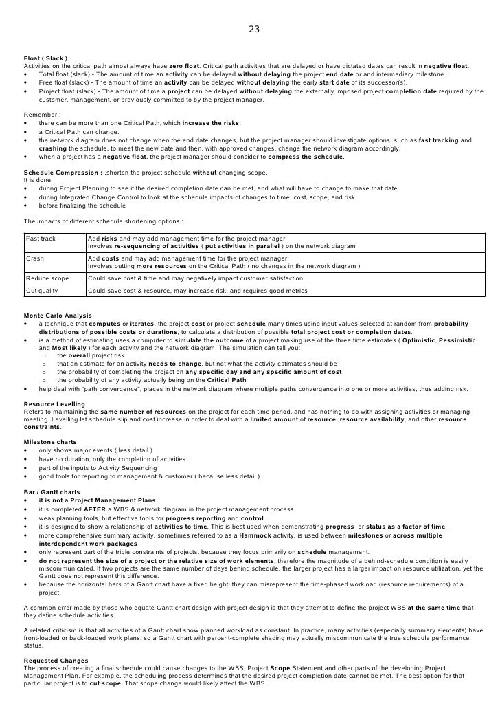 PMP+STUDY+NOTE Learnings Pinterest Study notes - contingency plan example