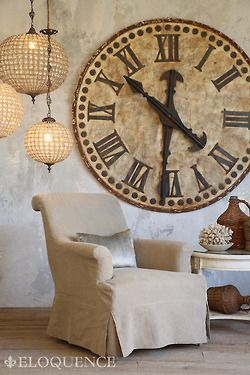 Love The Oversized Clock Mine Is Only Half That Size Clock Decor Oversized Wall Clock Decor