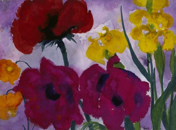 Pin By Diann Nowatka On Nolde With Images Emil Nolde Flower Painting Floral Painting