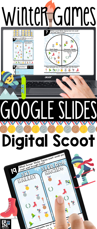 winter games 2018 google slides digital scoot winter games google