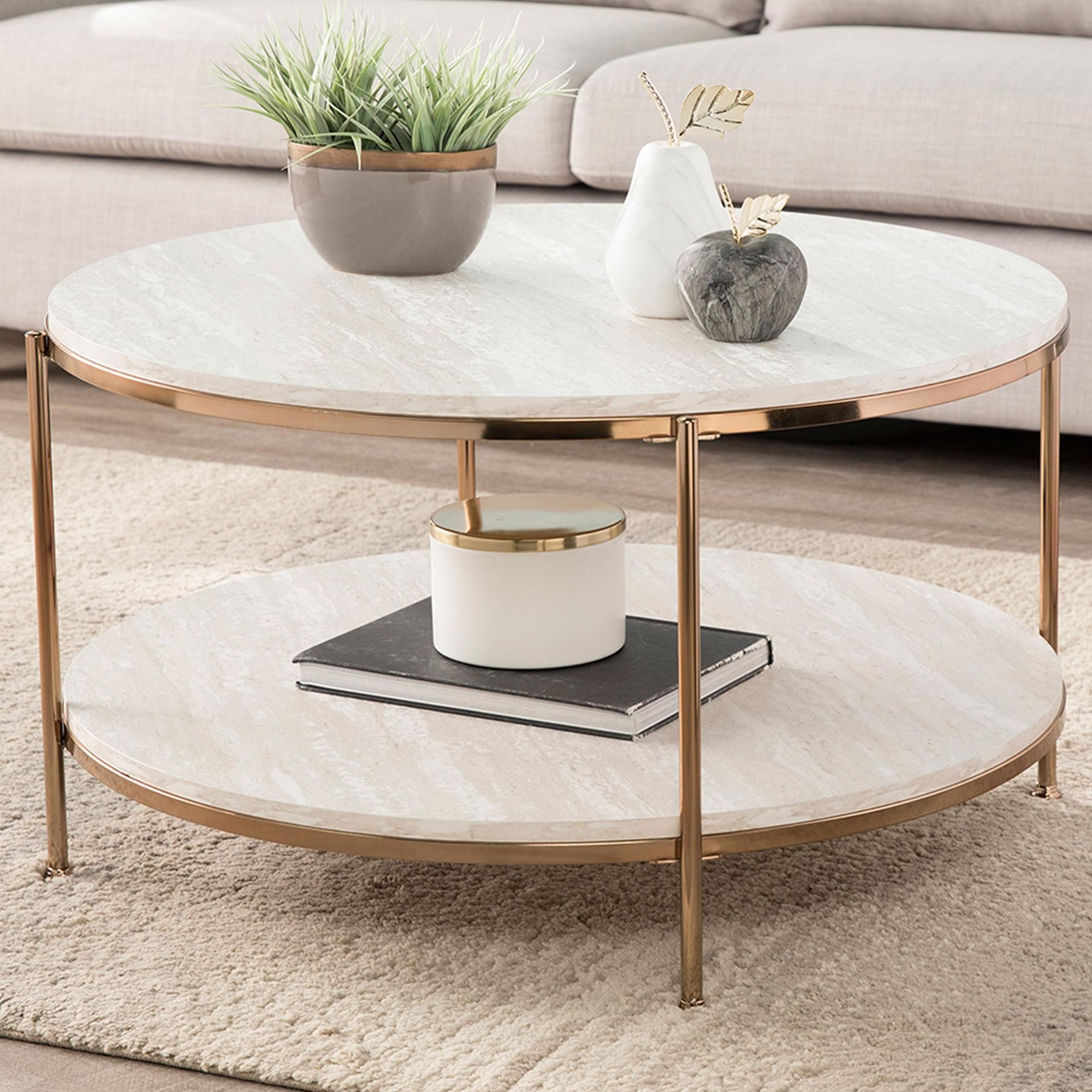 Southern Enterprises Silas Coffee Table In Champagne Faux Travertine Nfm In 2021 Coffee Table Table Southern Enterprises [ 2000 x 2000 Pixel ]