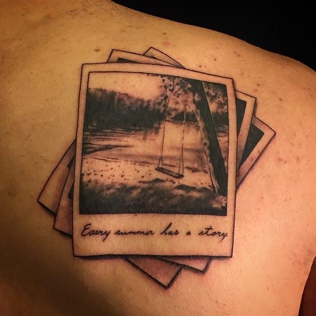 Keep Your Memories Forever With Polaroid Tattoos Vintage Camera Tattoos Camera Tattoos Camera Tattoo