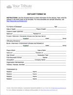 Obituary Template Download   End Of Life Planning