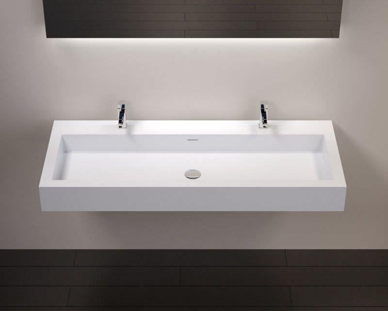 doppel waschbecken wand rechteckig aus mineralguss wt 06 xxl badeloft gmbh hambauer. Black Bedroom Furniture Sets. Home Design Ideas