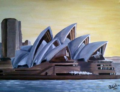 Opera House Painting | Acrylics and Paintings