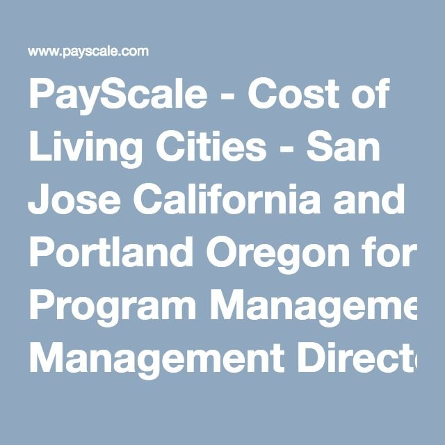 Payscale Cost Of Living Comparison Between 2 Cities With Images Cost Of Living Program Management San Jose California