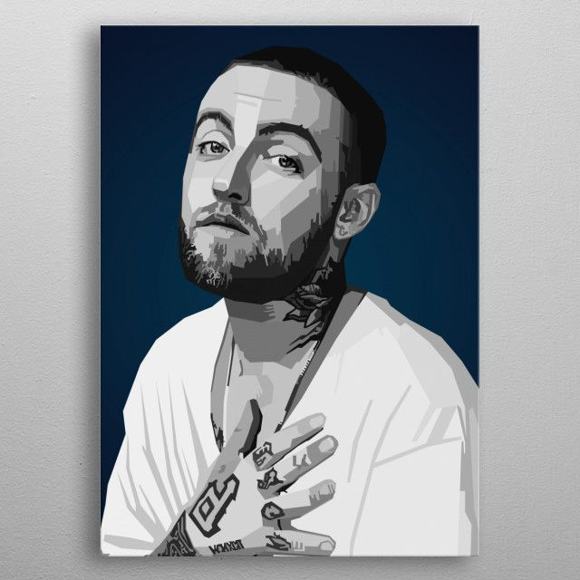 Mac Miller WPAP Pop Art Pop Art Poster Print | metal posters - Displate