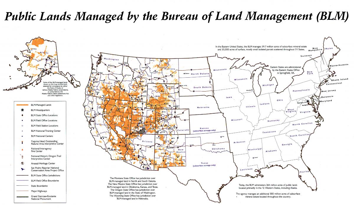 Blm Administrative Boundaries Map Bureau Of Land Management Blm