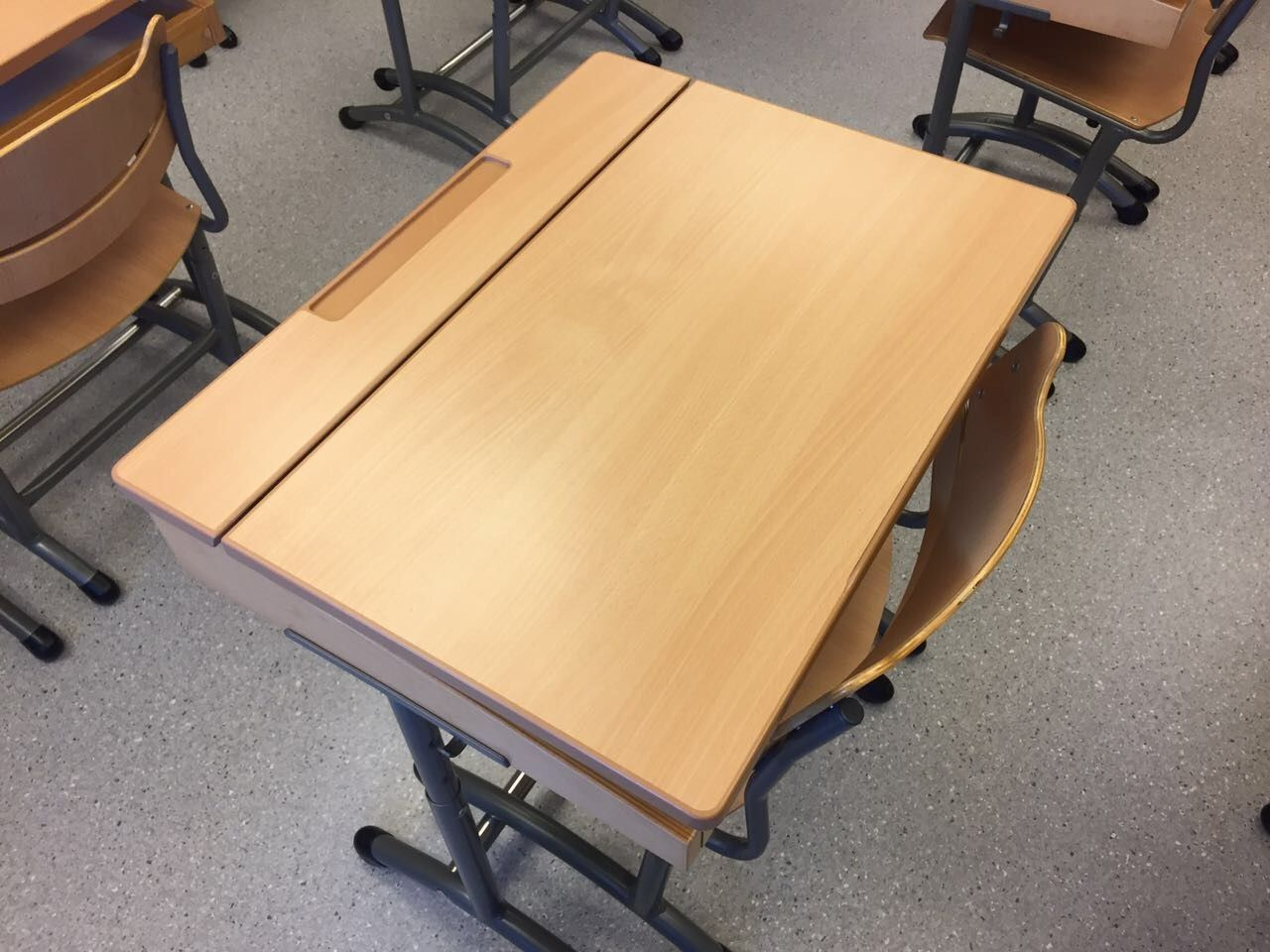 The Student Table In The Classroom Is Designed To Keep The