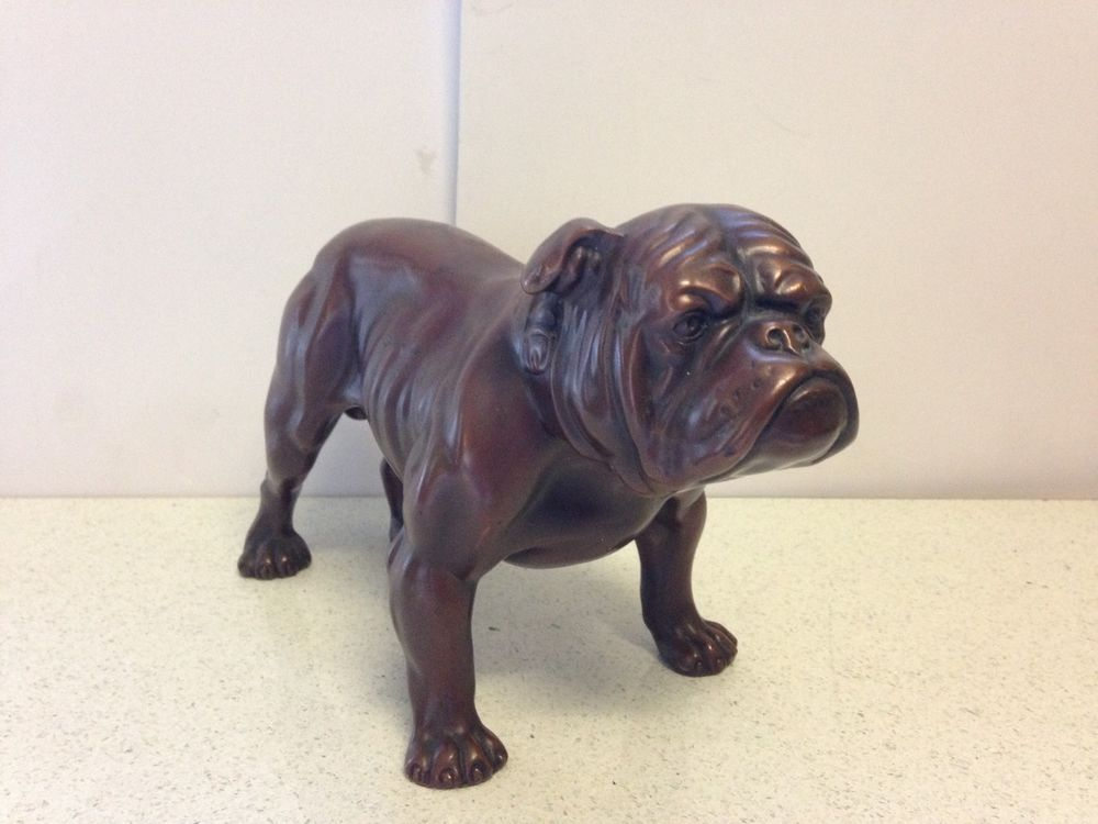Antique Vintage Cast Iron French Bulldog Dog Statue Figurine