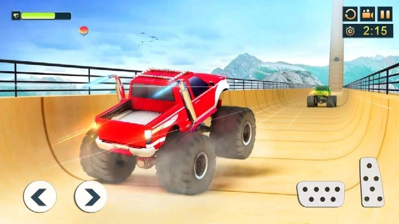 Impossible Monster Truck Stunts Game Android Gameplay Free Games Download Stunt Games Download In 2020 Monster Trucks Monster Truck Games Big Monster Trucks