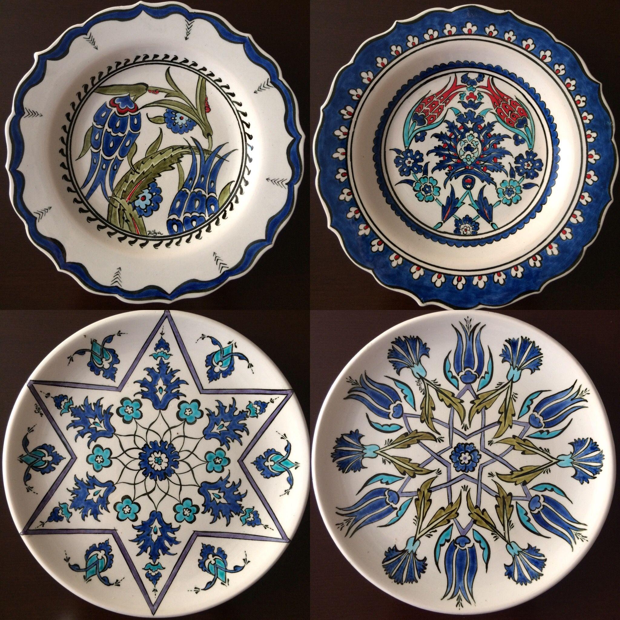 Çini tabak 18cm   cini desenleri   Pinterest   Keramik bemalen und ...