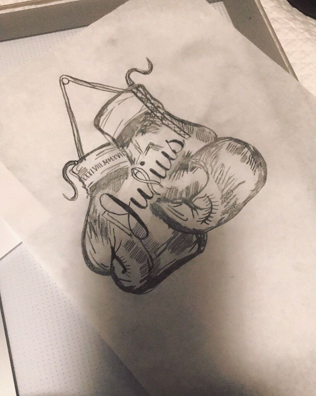 Boxing Gloves Tattoo Design Boxing Gloves Tattoo Boxing Tattoos Aztec Tattoo Designs