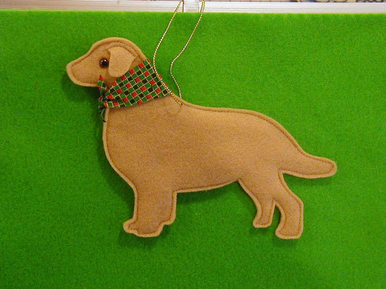 felt golden retriever ornamento sem personalizada cães