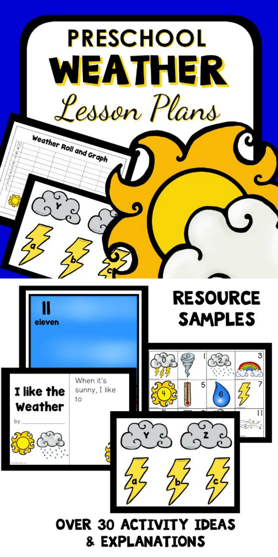 Weather Theme Preschool Classroom Lesson Plans