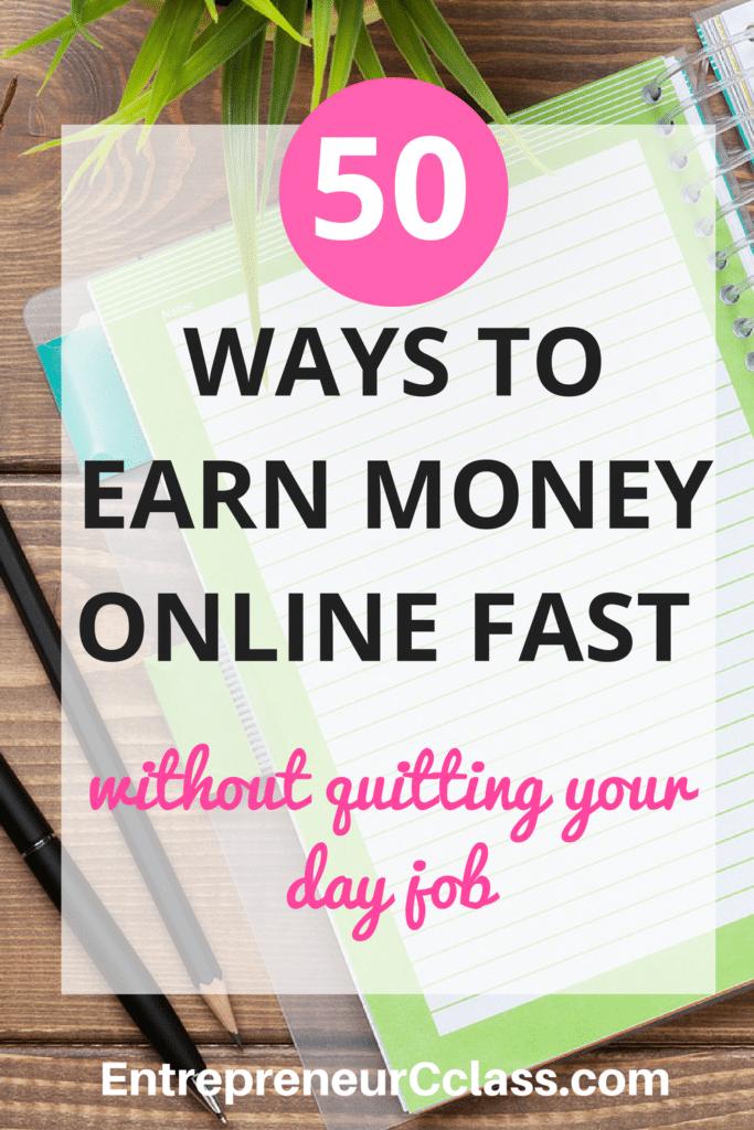 50 Legitimate Ways To Earn Money Online Fast In 2017 | Earn money online fast, Money fast and ...