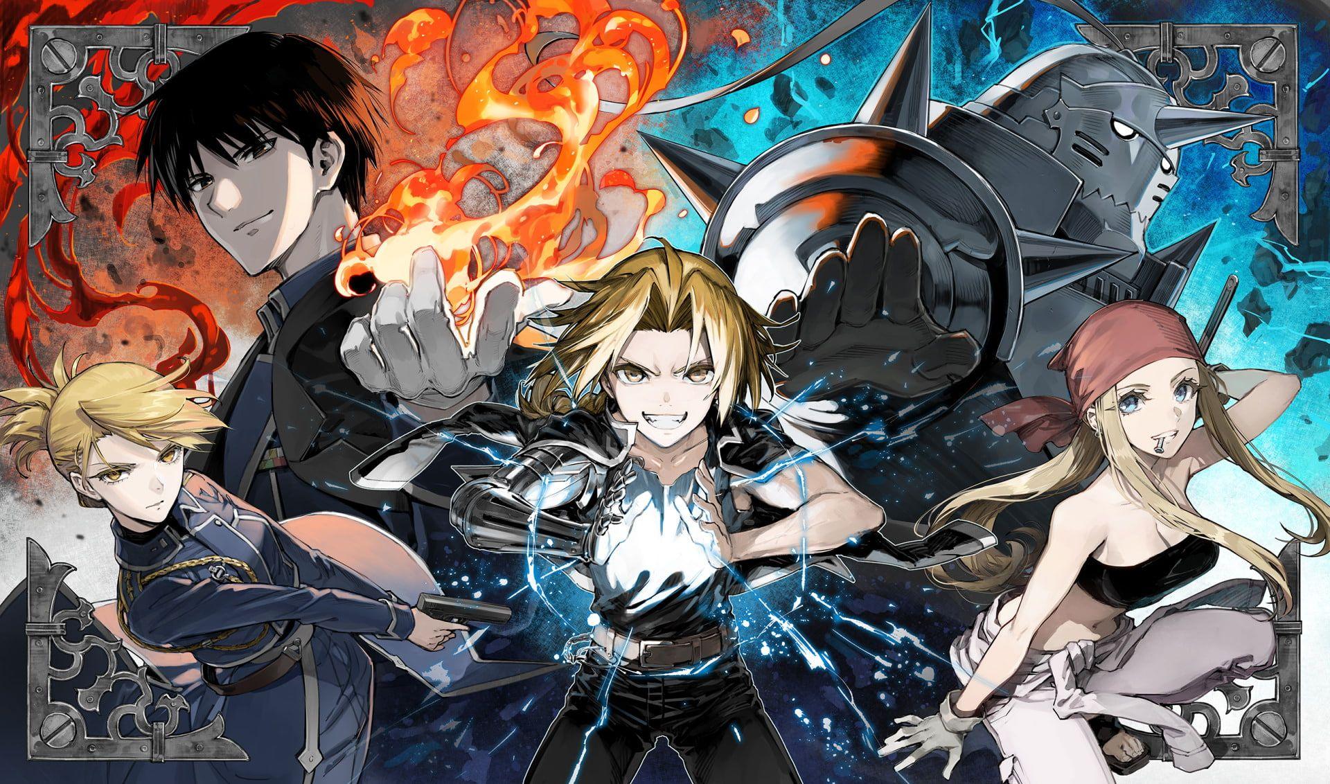 Fullmetal Alchemist Fullmetal Alchemist Edward Elric Riza Hawkeye Roy Mustang Winry Rockbell 1080p Fullmetal Alchemist Fullmetal Alchemist Brotherhood Anime