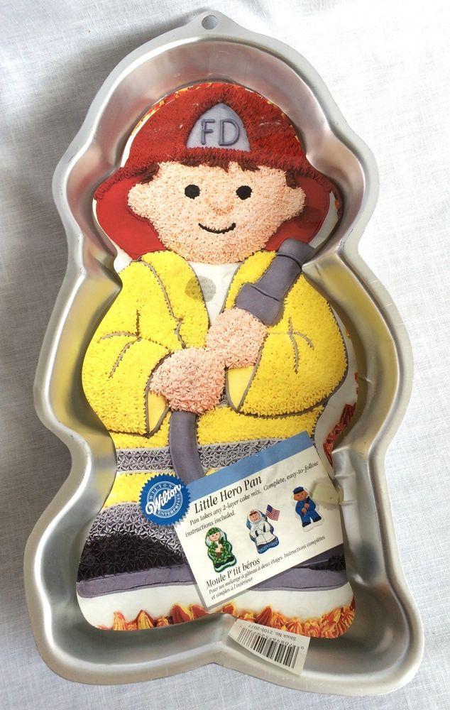 Wilton Little Hero Full Body Cake Pan Fireman Policeman