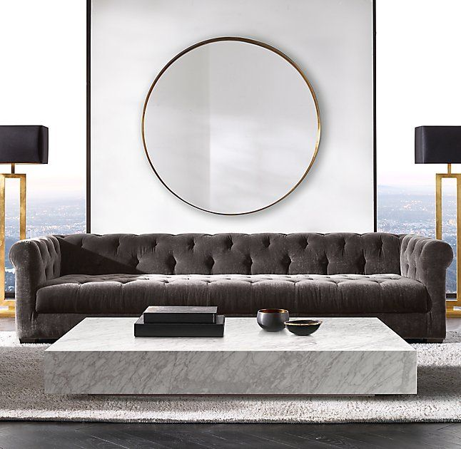 Rh Modern S Low Marble Plinth Square Coffee Table American And Italian Design Of The 1970s Informs Our Proportions Flat Planes