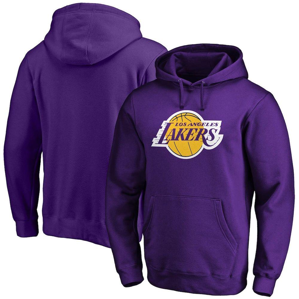 Men's Fanatics Branded Purple Los Angeles Lakers Primary Team Logo Pullover Hoodie, Size: Medium