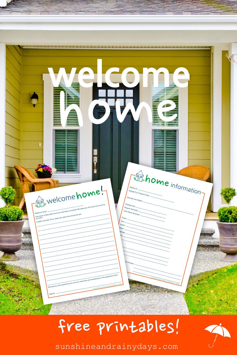 Welcome Home Letter To New Homeowners | Sunshine and Rainy