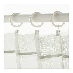 Ikea Syrlig Curtain Ring With Clip And Hook White Curtains