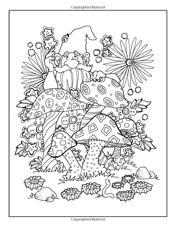 Robot Check Coloring Books Whimsical Garden Gardens Coloring Book