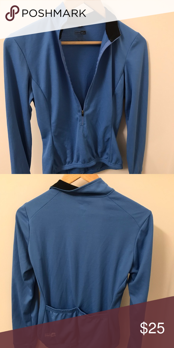 521cae463 Women s REI Cycle Shirt Comfortable REI Woman s cycle shirt. Long sleeves  with pockets in the back. Zipper in front. Runs true to size. Lightly used.