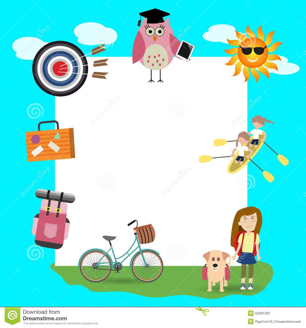 hight resolution of summer camp clipart borders jpg 1300x1390 summer camp clipart borders