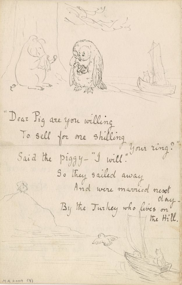 Beatrix Potter manuscript page