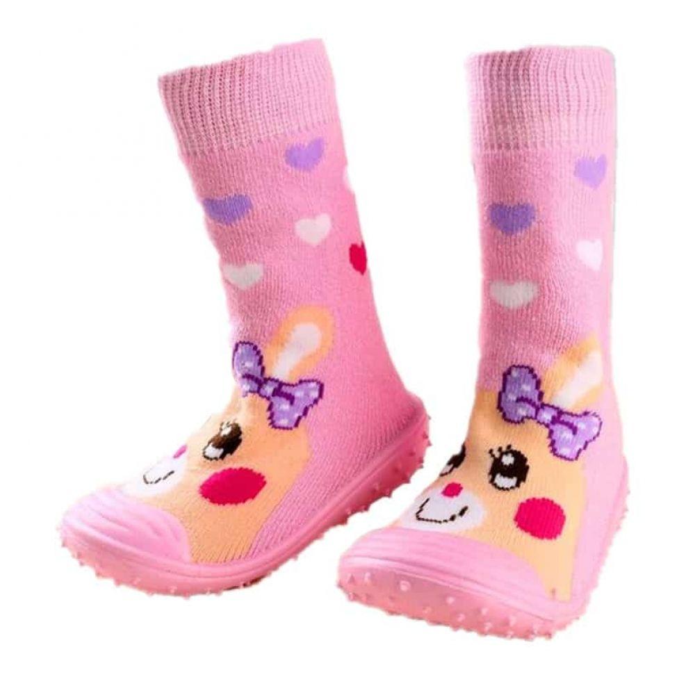 Cartoon Baby Shoes Floor Socks Anti Slip Toddler Cotton Indoor Walk Learning Shoes