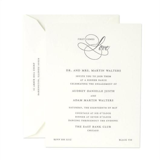 Etiquette of issuing Engagement Party invites and Engagement – Engagement Party Invitation Etiquette