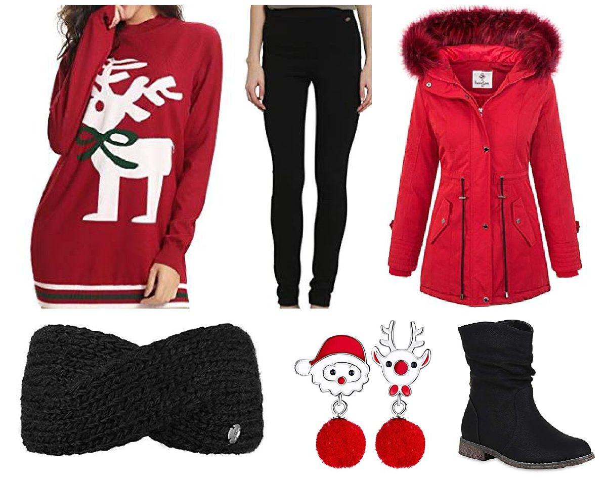 Rentier Rehntier OutfitAibrou Weihnachten Damen Christmas 7ygb6fY