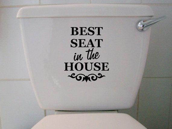 House Funny Bathroom Vinyl Decal, Funny Bathroom Decals