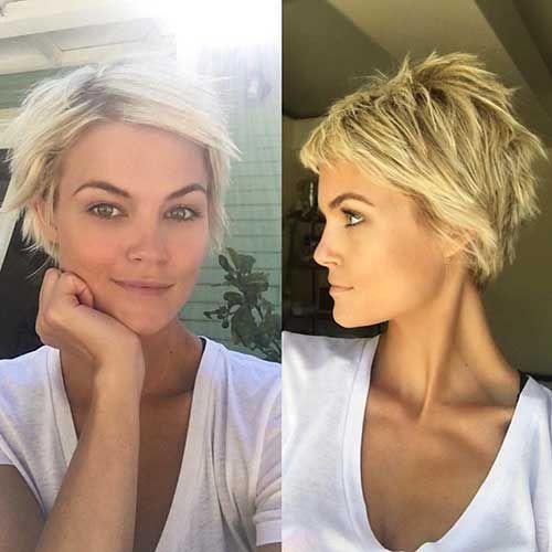 30+ neueste geschichtete Haarschnitt-Bilder für verführerische Stile - Einfache Frisur #shortlayeredhaircuts