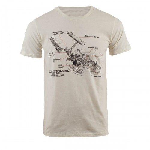 Star Trek Ship Diagram T-Shirt   Shop By Category   Apparel