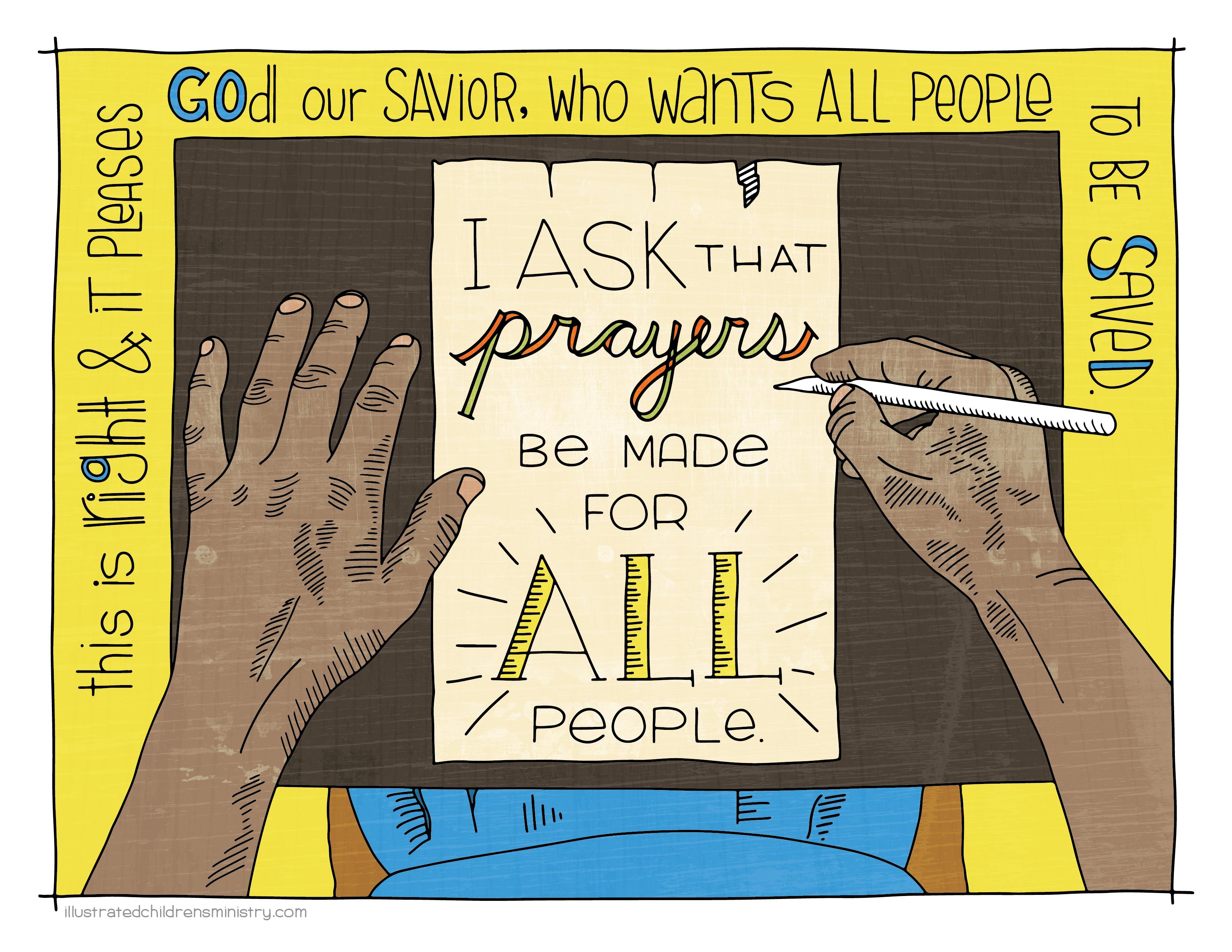 Luke 16: 1-13 original illustration for Children's Sermon
