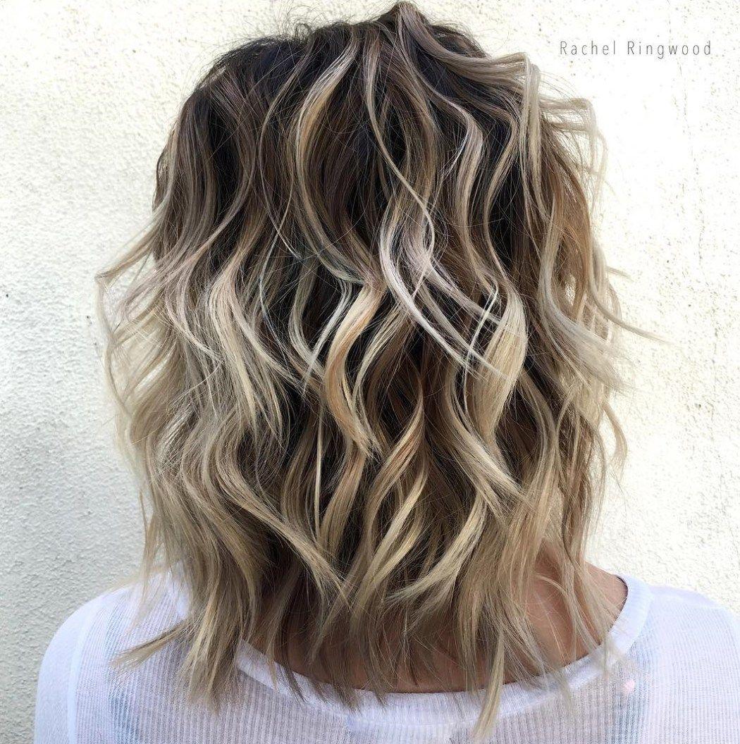 Medium Dark Brown Hair With Blonde Balayage