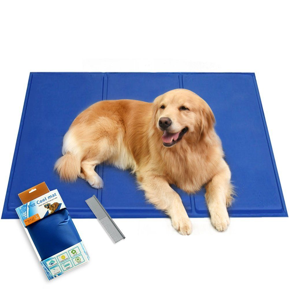 Authentic Self Cooling Pad Pressure Activated Chilly Dog Cat Bed Comfortable Gel Mat Blue 5 Sizes With Pet Pooper Scooper Cat Bed Dog Bed Cool Pets