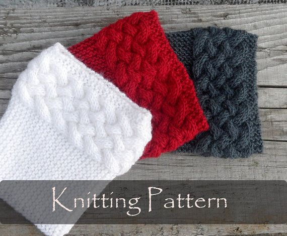 Knitting Pattern Double Cable Boot Cuffs Boot Toppers Pattern Knit
