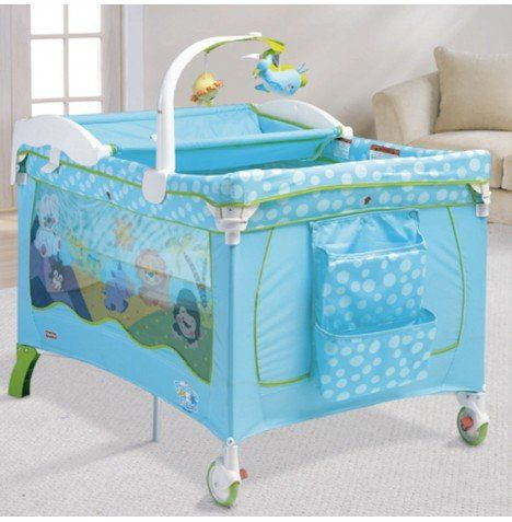 Fisher Price Precious Planet Travel Cot With Bassinet Changer