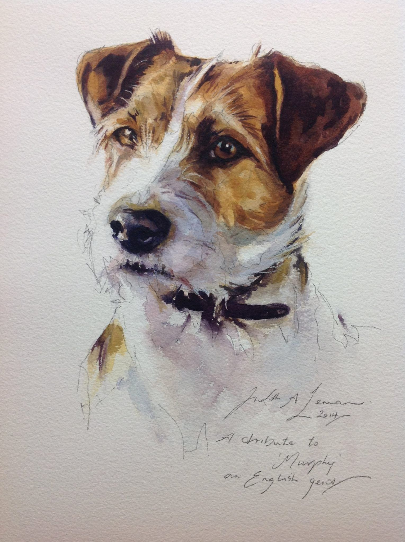 Jack Russell Terrier Painting Watercolor Dog Portrait Dog