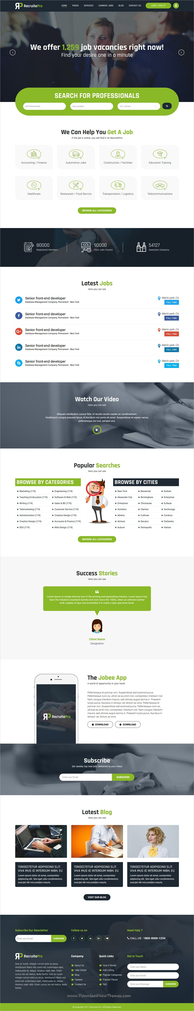 Recruit Pro Staffing And Recruiting Html Template  Template And