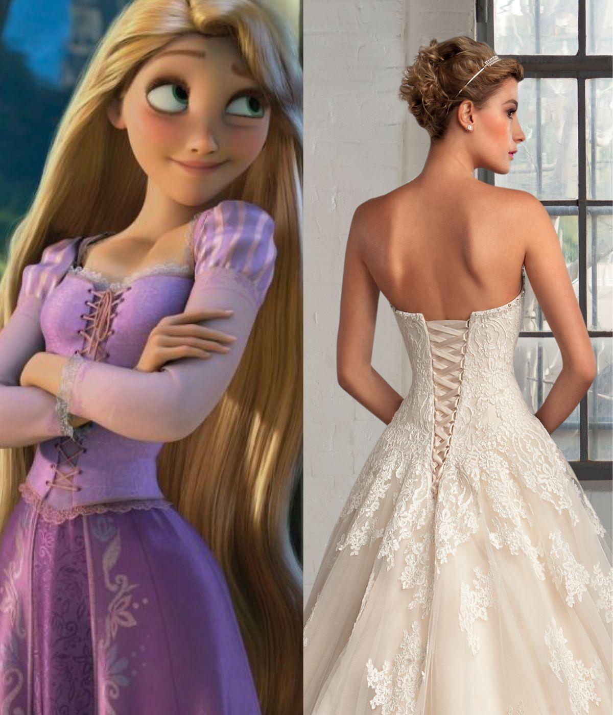 Modern Wedding Dresses For Every Disney Princess