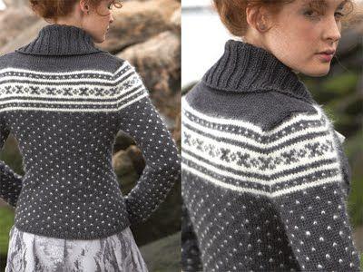 fair isle / norwegian pattern with modern twist (Vogue Knitting ...