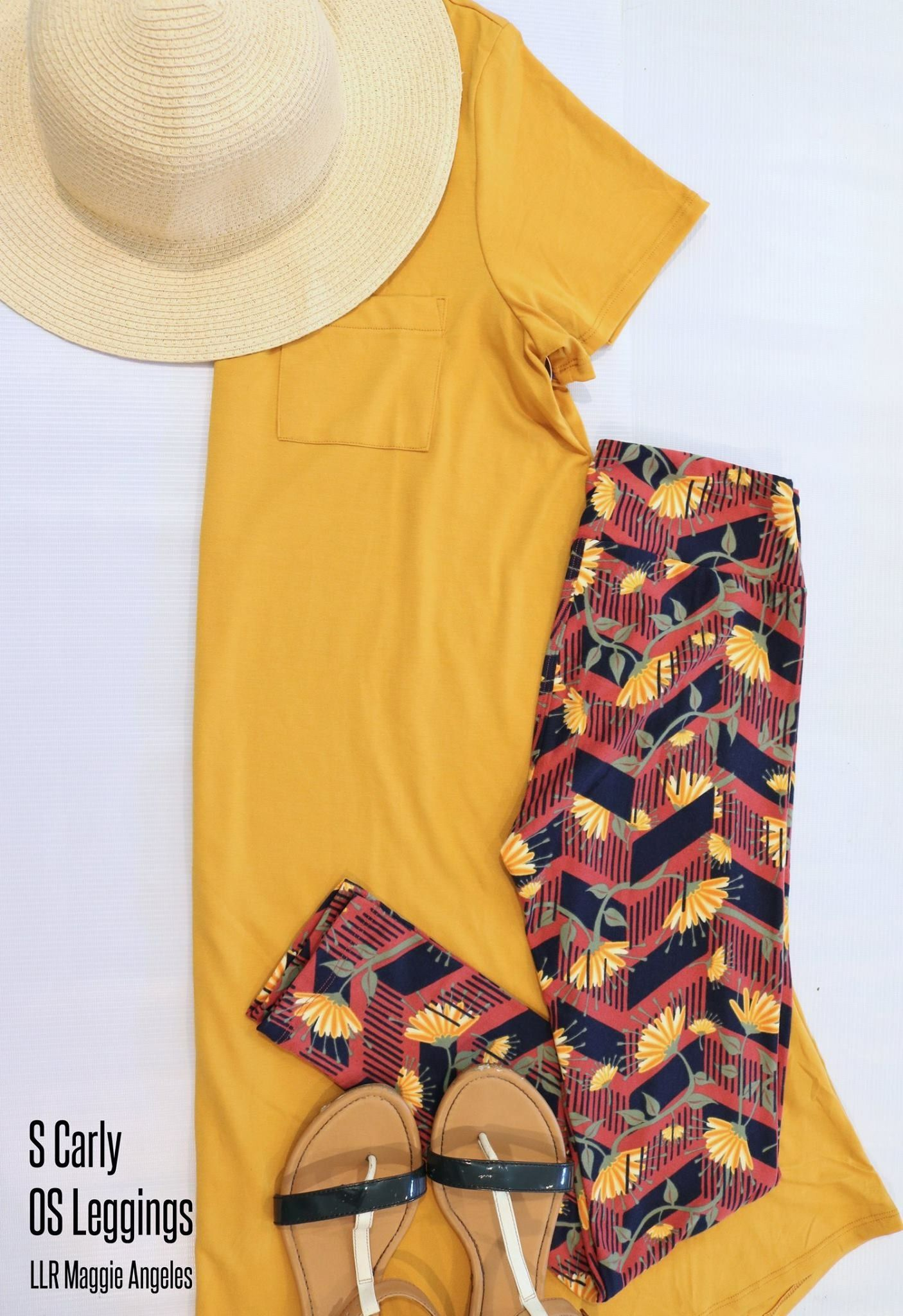Mustard on my mind!  Such a cute OOTD with this LuLaRoe Carly