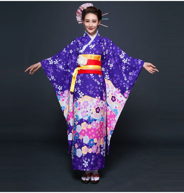 New party cosplay cotume japanese kimono women yukata Japanese clothing designers