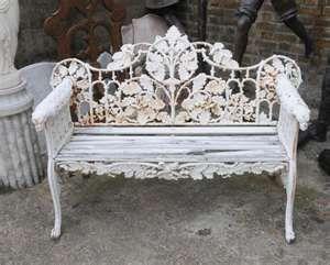 Pair Victorian Cast Iron Garden Benches Bench Seat Ebay Iron Patio Furniture Wrought Iron Furniture Cast Iron Garden Bench